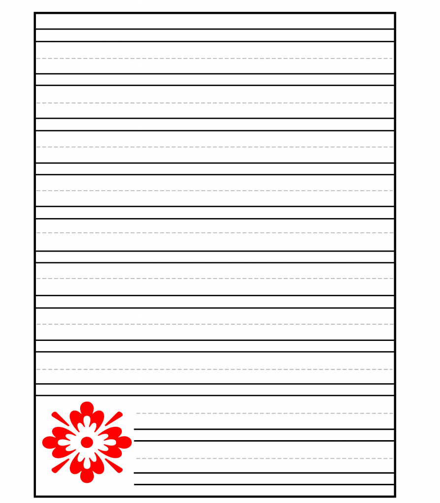 Double Lined Paper Printable For Handwriting Free Lined Papers