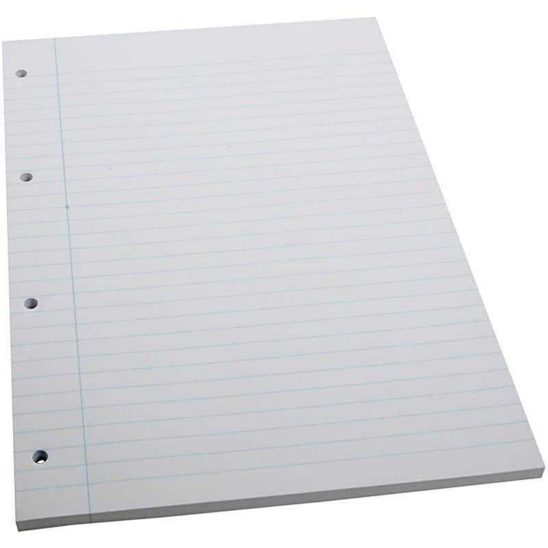 A4 X 100 Sheets Lined Ruled Line Notes 4 Hole Paper School