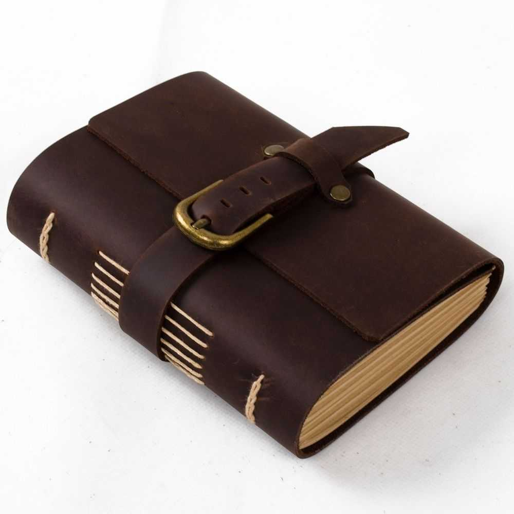Ancicraft Leather Journal Diary With Buckle A6 Lined Paper