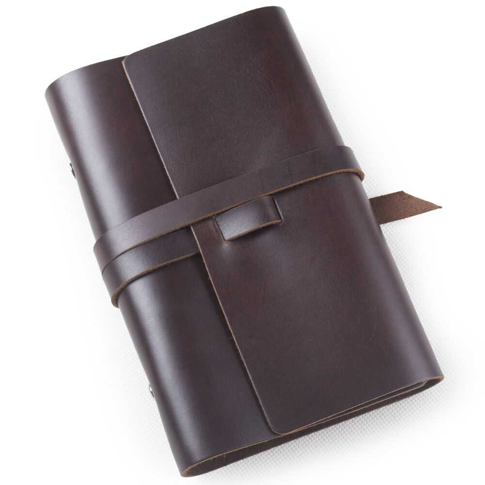 Ancicraft Refillable Leather Journal Notebook With Strap
