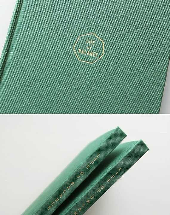 Blank Lined Notebook Gray Green Lined Journal Notebook