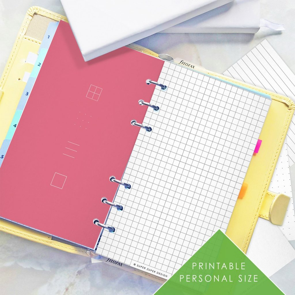 BULLET JOURNAL Personal Size Dot Grid Lined Blank Paper Etsy