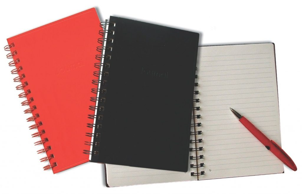 Canson Red Spiral Recycled Leather Writing Journal 100