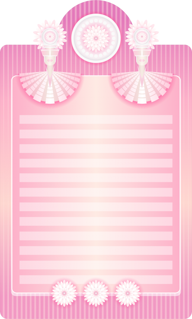 Clipart Fancy Writing Paper Template