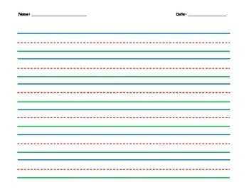 Colored Wide Lined Writing Paper By Darlynm15 TpT