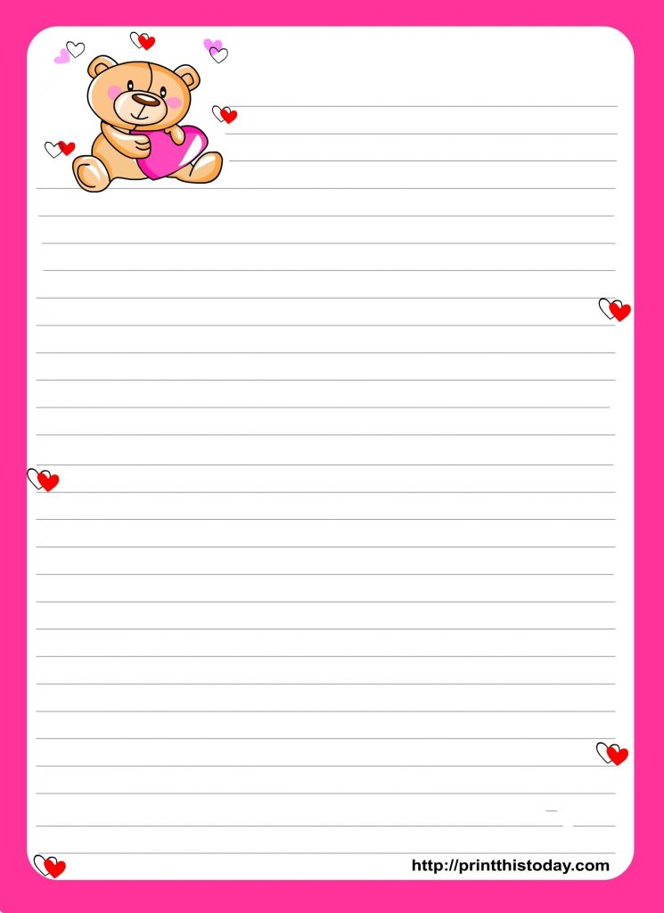 Cute Paper To Write Letters In Notebook Paper Template