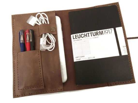 Distressed Leather A5 Notebook Cover Cover For Leuchtturm