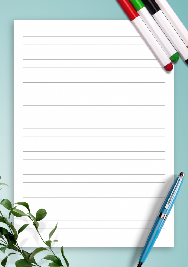 Download Printable Lined Paper Template College Ruled 7