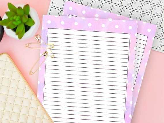 Downloadable Stationery Pastel Lined Notebook Download
