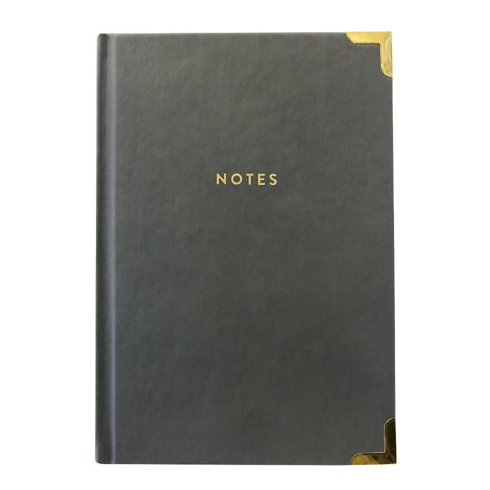 Eccolo Lined Journal Hardcover W Gold Corners Colors