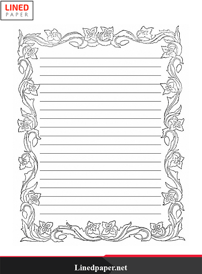 Free Printable Lined Paper Template With Border Lined Paper