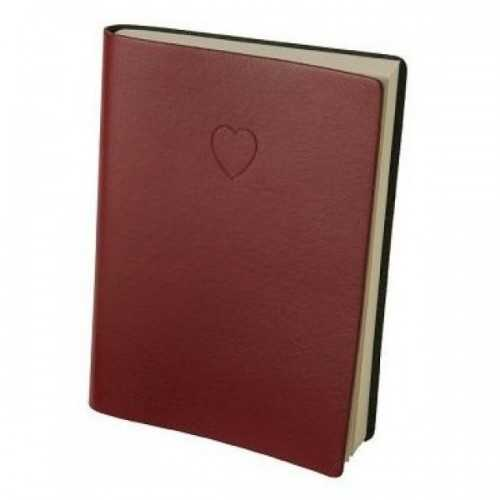 Heart Embossed Red Lined Journal By Eccolo Healing Baskets