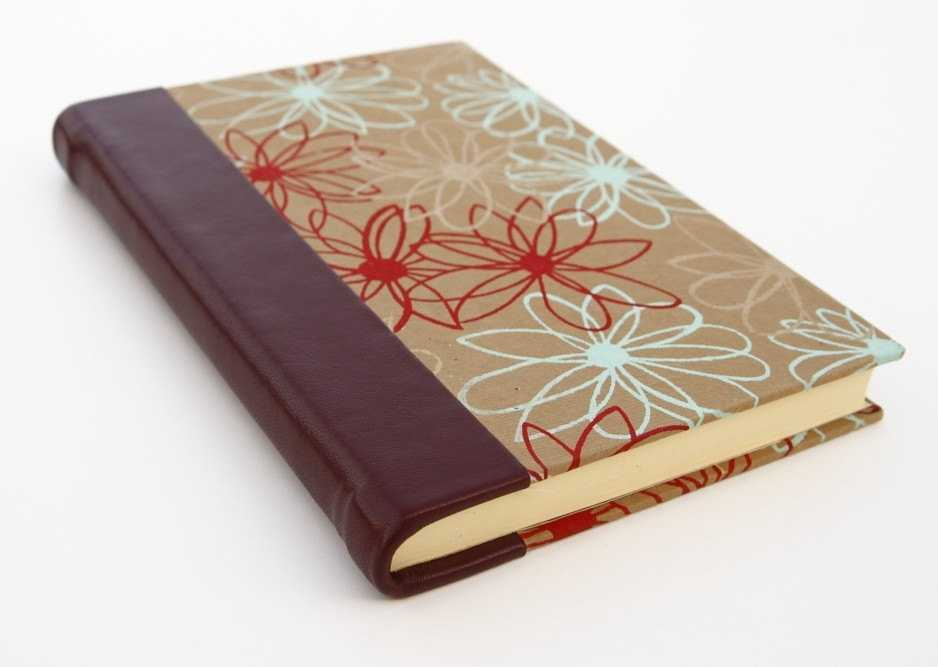 Large Journal With Lined Pages Red Leather Spine