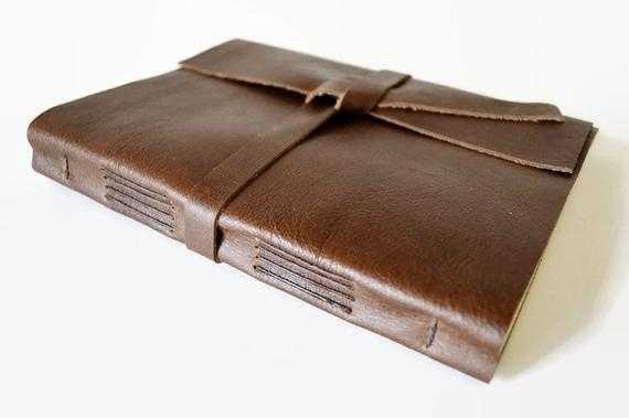 LINED Pages Large Leather Journal Notebook By Absolutelyevo
