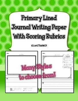 Primary Lined Journal Writing Paper with Teacher Or
