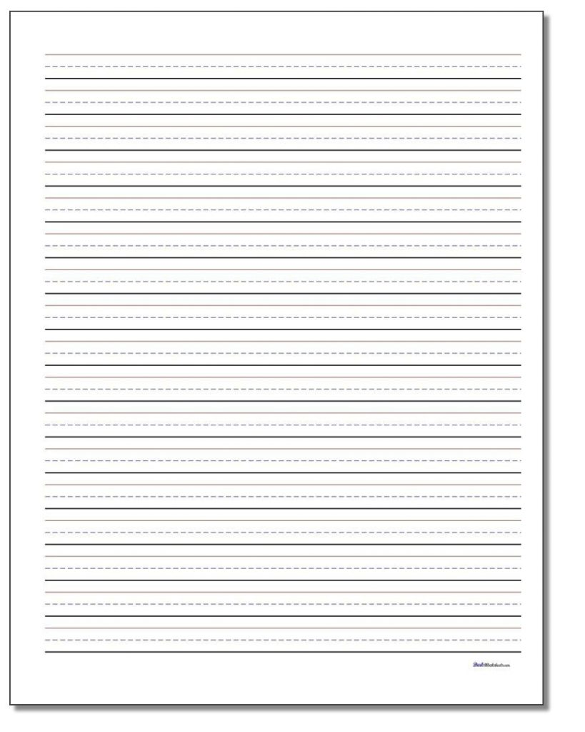 Printable PDF Writing Paper Templates In Multiple