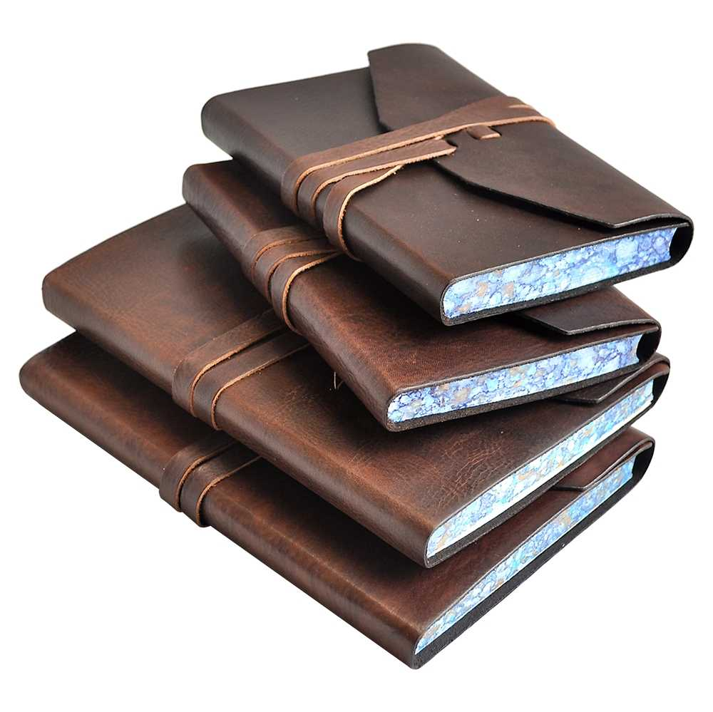 The Novelist Leather Journal With Lined Pages