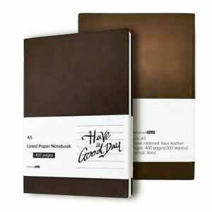 Thick 400 Pages Lined Paper Leather Journal Soft Cover A5
