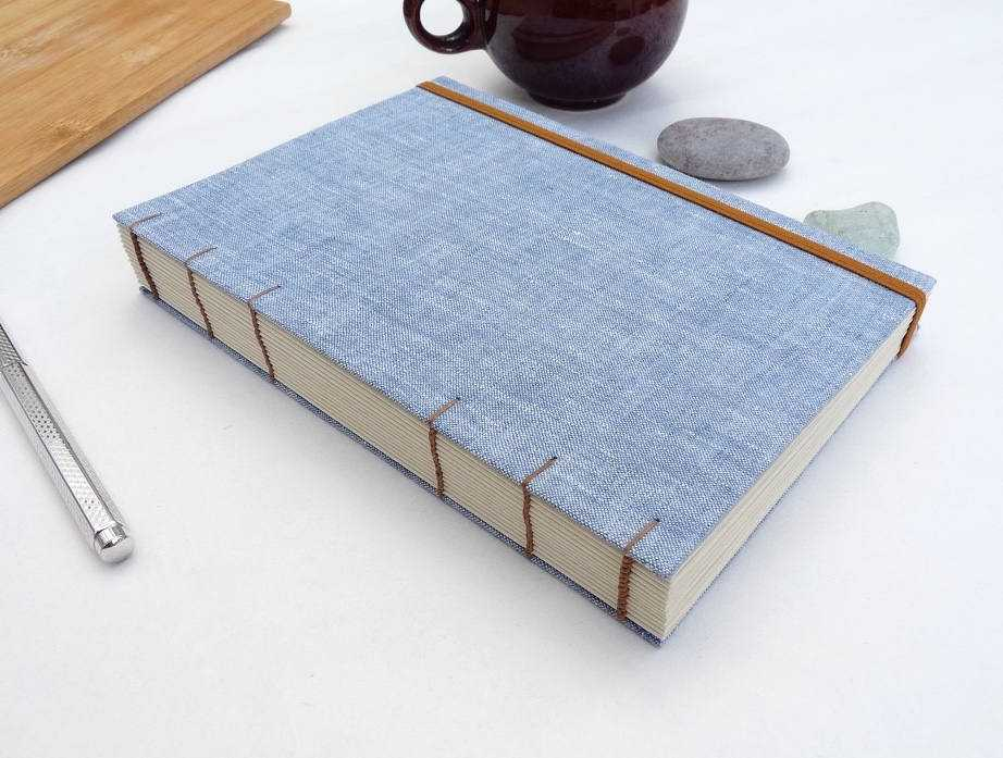 Thick Lined Journal Lined Notebook Recycled Linen Notebook