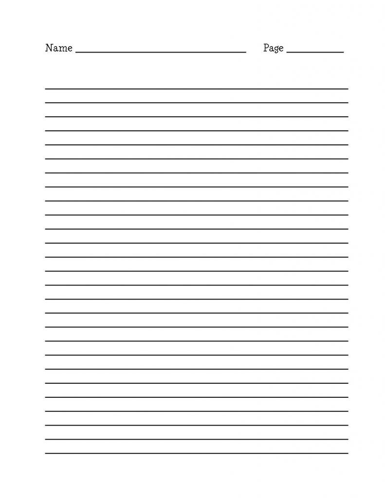 15 Best Images Of Long Lined Paper Worksheets 4th Grade