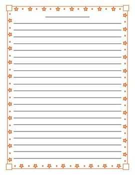 Lined paper with star border