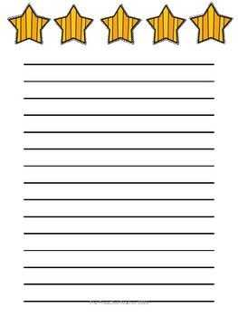 5 star lined paper