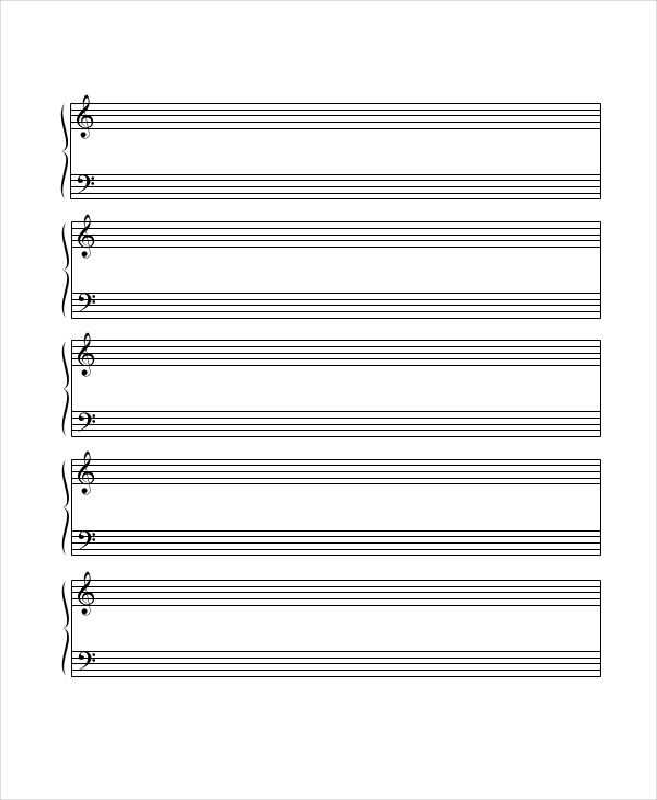 6 Printable Staff Papers Music Paper Printable Lined
