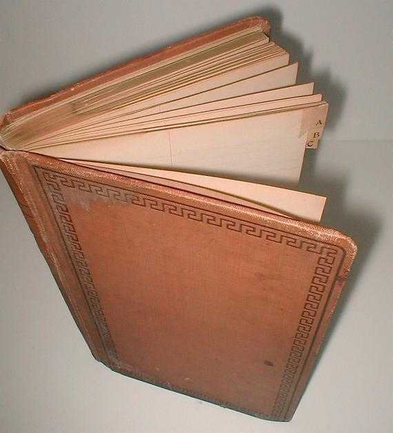 Blank TOME Alphabetized Lined Journal Book Vintage 1940s