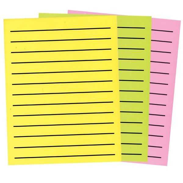 Bold Line Paper In Neon Colors 3 Pad Set 1 Yellow 1