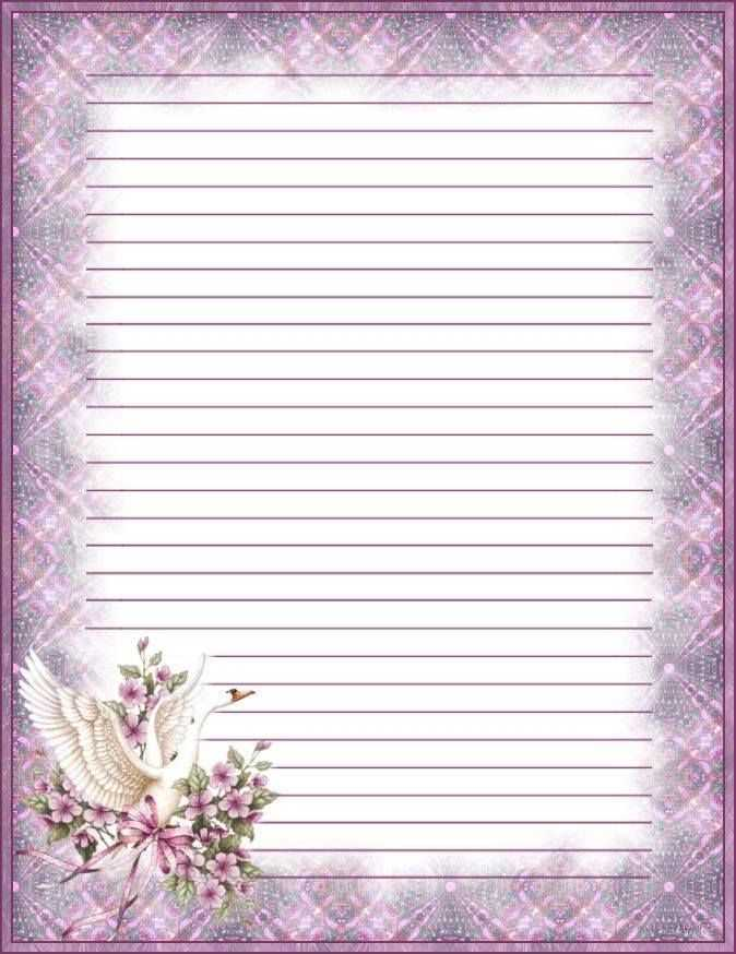 Briefpapier Zwaan Writing Paper Printable Stationery