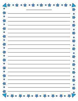 Star Lined Paper templates