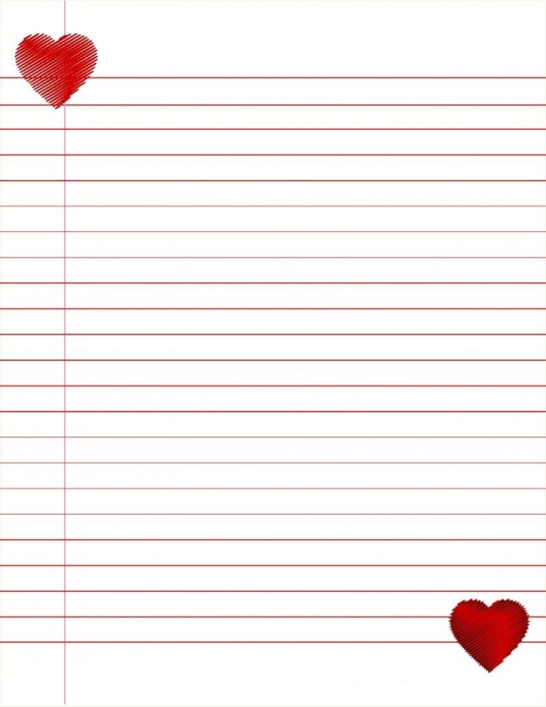 Cute Lined Paper Template Printable Lined Paper Paper