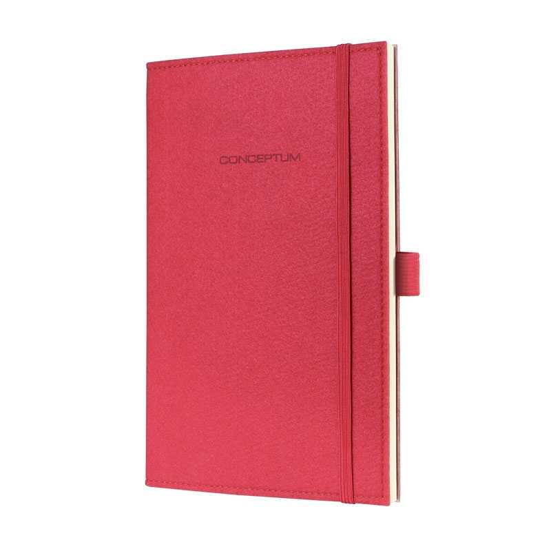 Felt Softcover Lined Notebook Journal Size with Elastic