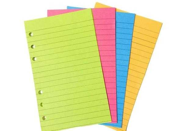 Filofax Personal Colored Paper Colored Looseleaf By