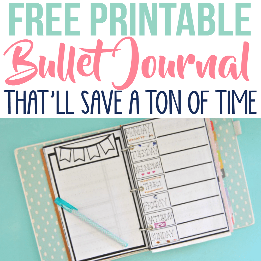 Free Printable Bullet Journal Pages Simple Made Pretty