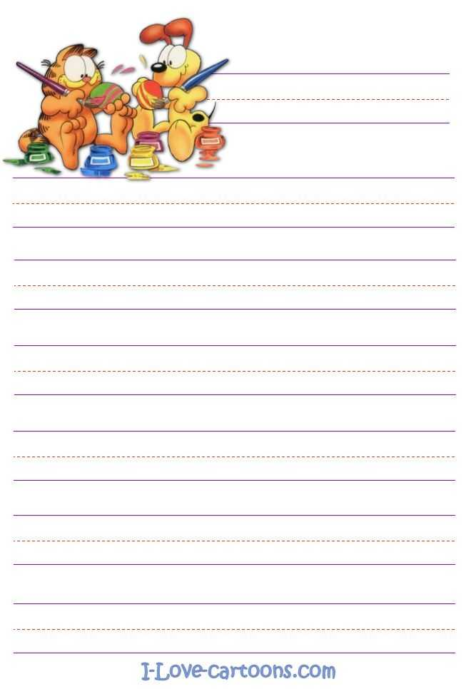 Garfield And Odie Stationary Writing Paper Printable