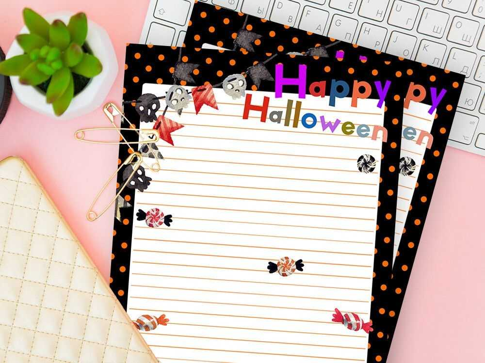 Happy Halloween Writing Paper Halloween Stationery Paper