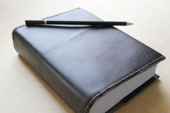 Journal Leather Refillable LARGE Graph Paper Lined Paper