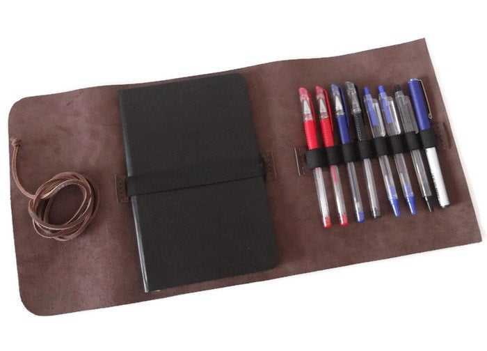 Leather A5 Notebook Cover A5 Journal Cover Pencil Case