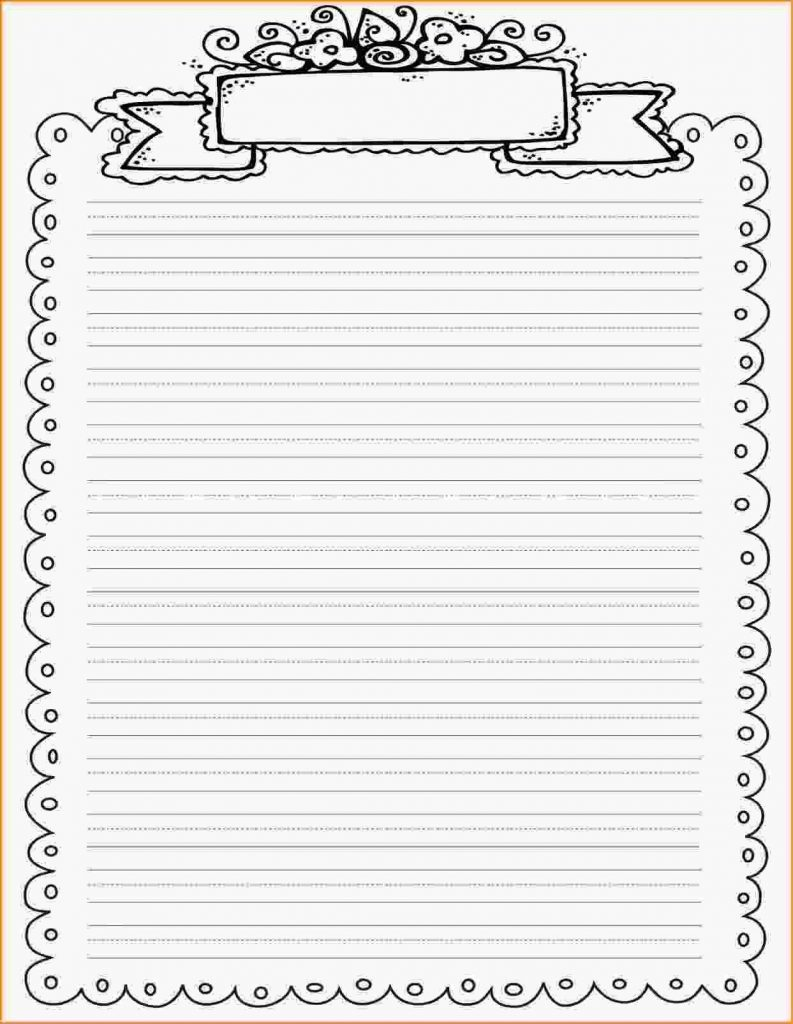 Lined paper printable with border world of printables