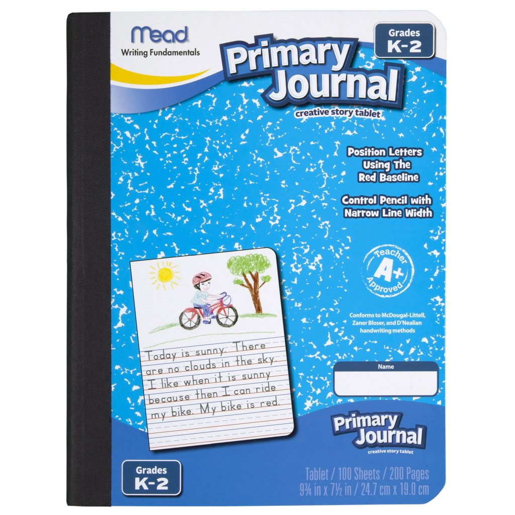 Mead Primary Journal Half Page Ruled Grades K 2 100