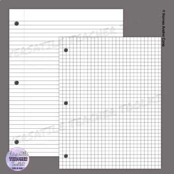 Notebook Style Lined Papers Clip Art Set Pastel Colors TpT