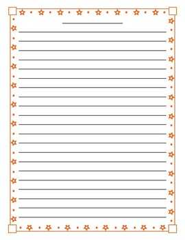Star Lined Paper