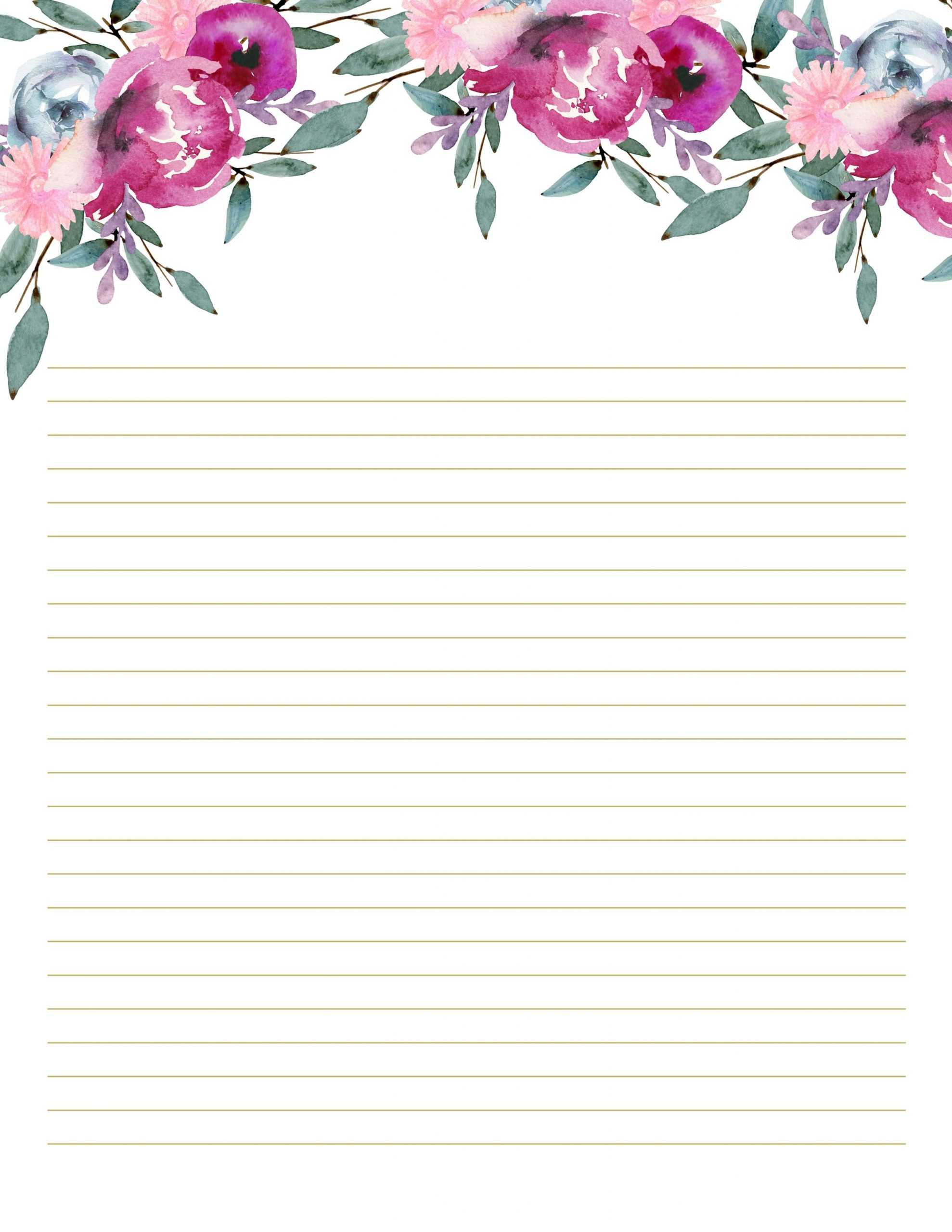 Pink Notepad Set Of 10 Floral Writing Paper Bridal