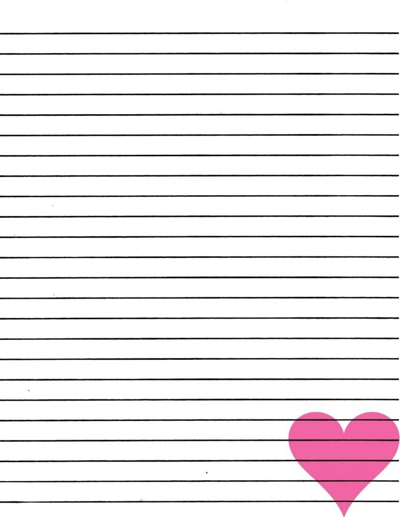 Printable Notebook Paper With Designs World Of Label