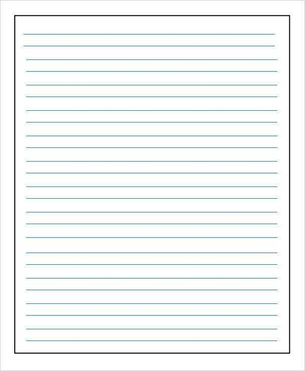 The Best Printable Lined Paper Pdf Randall Website