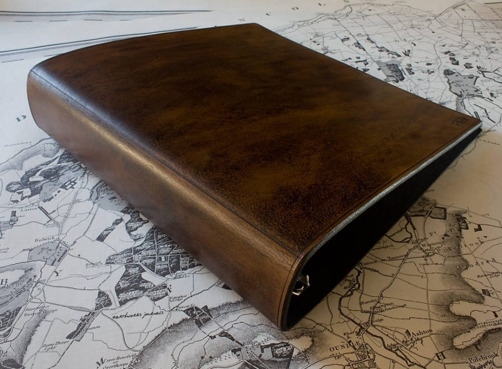 US Letter Size Dark Brown Leather 3 Ring Binder 8 5 X 11 Inch