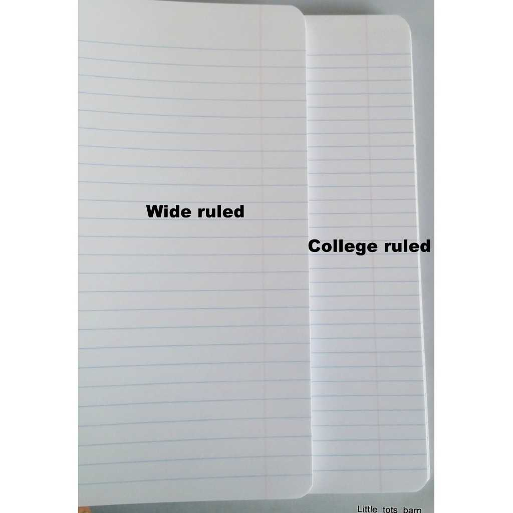Difference Between Wide Ruled And College Ruled