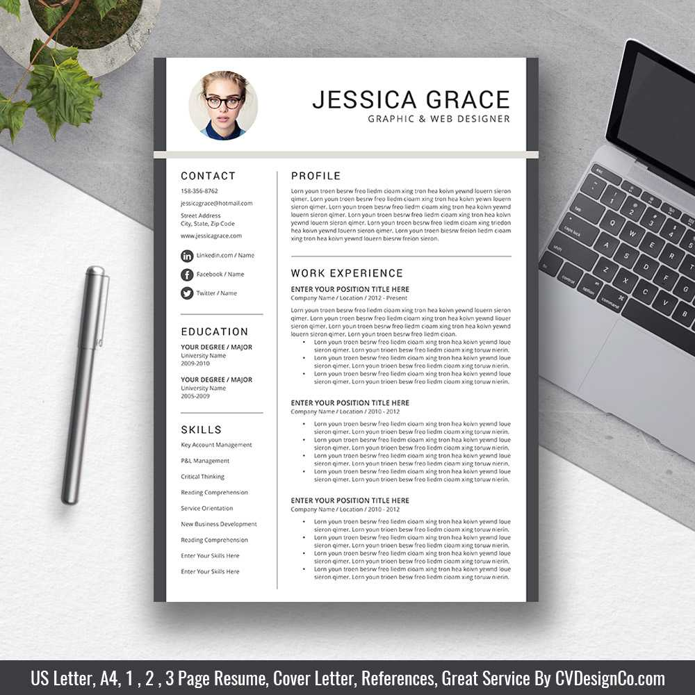 Web Designer WordOnePage Resume Template
