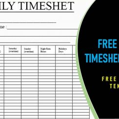 Free Monthly Timesheet Template in Excel